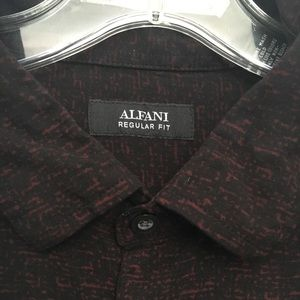 ALFANI LONG SLEEVE BUTTON DOWN SHIRT